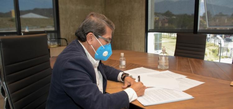 LIBERTADOR Y CALILEGUA: FIRMARON ACUERDO PARA LICITAR IMPORTANTE OBRA DE SANEAMIENTO