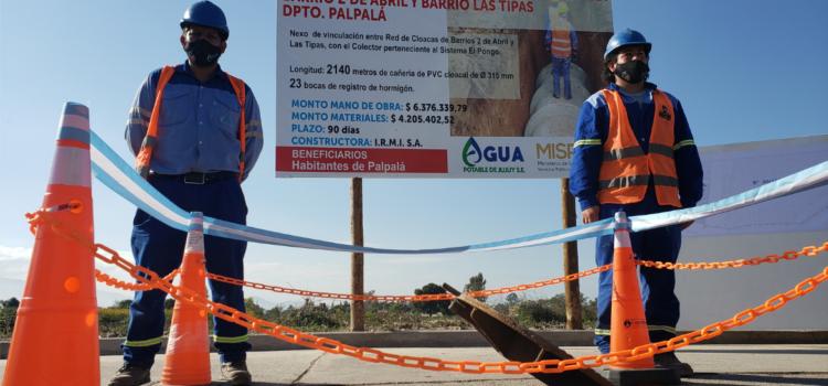 INAUGURARON OBRAS DE SANEAMIENTO EN EL BARRIO LAS TIPAS DE PALPALÁ